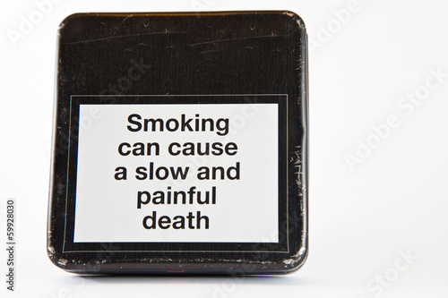 Warning sign smoking kills