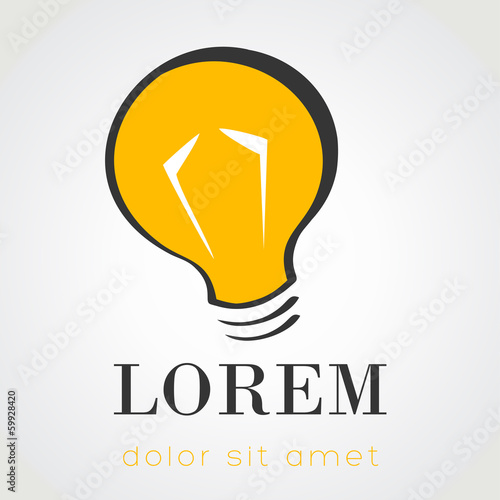 lightbulb symbol. vector illustration.