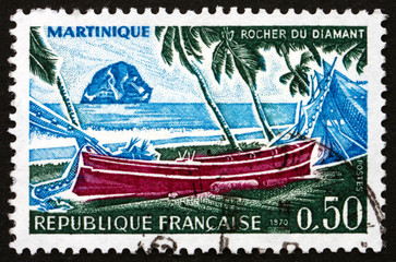 Postage stamp France 1970 Diamond Rock, Martinique
