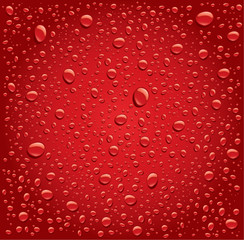 drak red bubbles droplets background