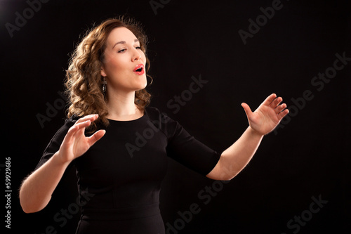 Female choir conductor