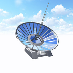 Satellite Dish with clipping path