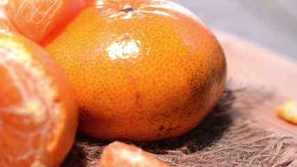 Rotating Tangerines (Loopable Macro Video)