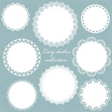 Cute white lacy doilies collection.