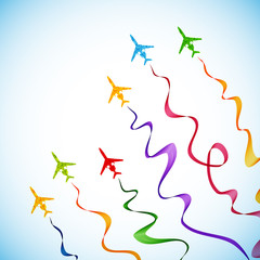 airplane, vector abstract background