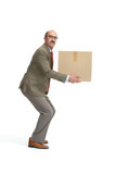 Businessman and a cardboard box