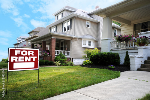 Home For Rent Sign - 59931444