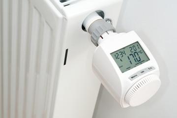 Elektronischer Heizungsthermostat in Energiesparmodus