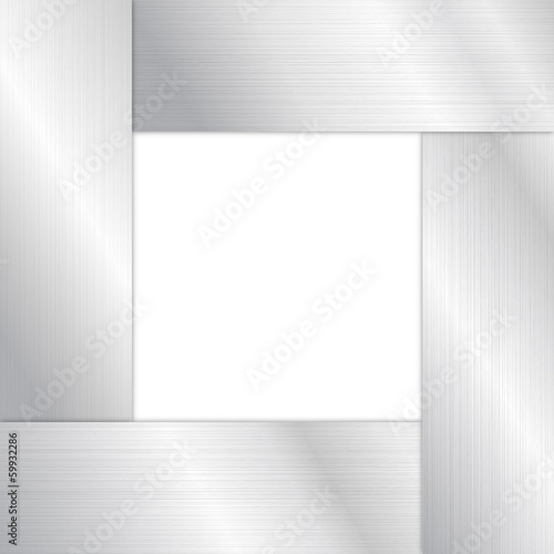 Vector Frame With Metal Texture