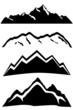 Mountain peaks landscape