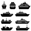 Ship and boat icons - 59933232