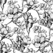 sketch flower seamless