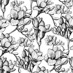 sketch flower seamless