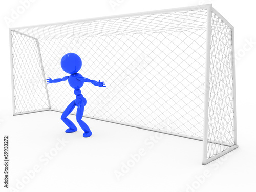 Goalkeeper at the gate #1