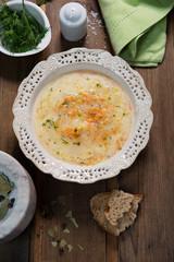 Polish cucumber soup, vegetable soup