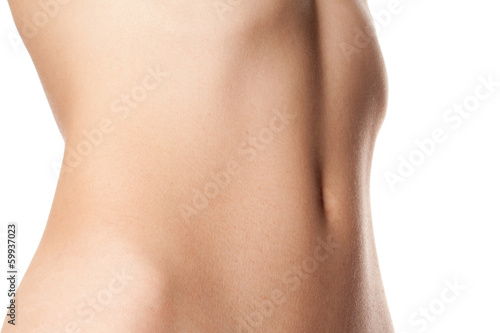 naked stomach of healthy young girl