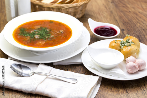 "red beet soup on the table in a restaurant"" Imagens e fotos de stock ..."