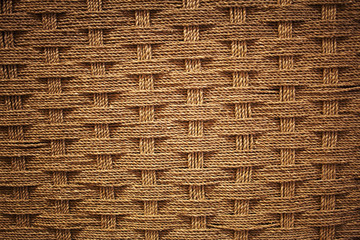 Woven coir background with vignette