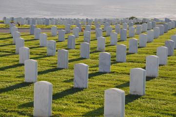 US Military Cemetery near Point Loma in San Diego, California