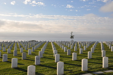 US Military Cemetery near Point Loma in San Diego, California