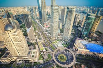 a bird's eye view of shanghai midtown
