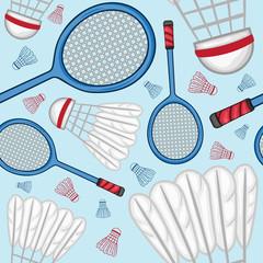 Badminton pattern background - Sport