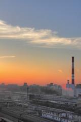 Sunrise. City.