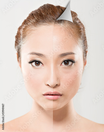 Face of beautiful Asian