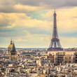 Eiffel Tower in late afternoon ,Paris