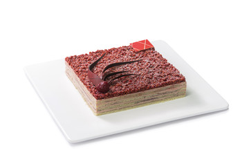 Red beans cake