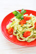 tagliatelle pasta with tomatoes