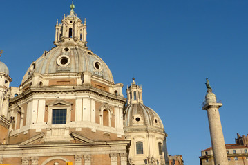 Churches of Rome and Trajan's Column - Rome - Italy