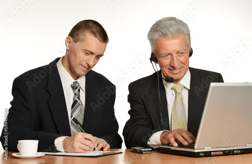 Workers with laptop