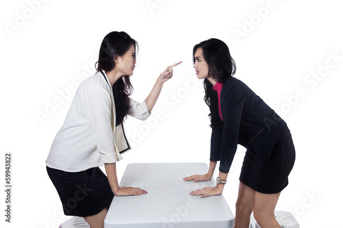 Businesswomen having a fight