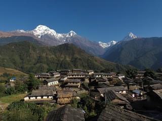 Morning in Ghandruk, famous Gurung village in Nepal