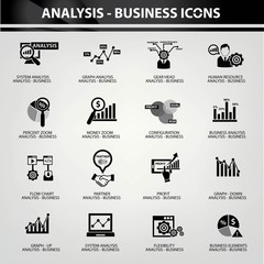 Business Analysis concept icons,vector