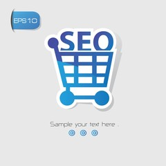 SEO Marketing symbol,vector