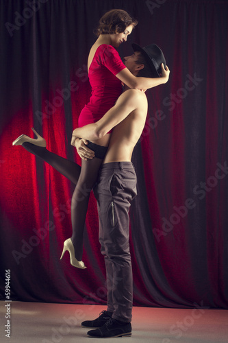 man and a woman in the most romantic dance