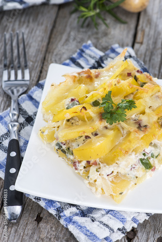 Fresh made Potato Gratin