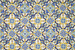 canvas print picture - Typical andalusian tiled wall