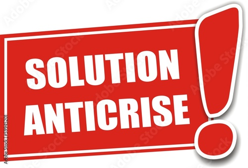 étiquette solution anticrise