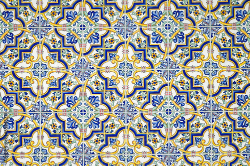 canvas print picture Typical andalusian tiled wall