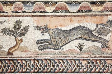 Leopard Roman mosaic, Paphos, Cyprus