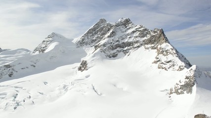 Swiss Alpine Alps mountain landscape. Viewed from Jungfraujoch
