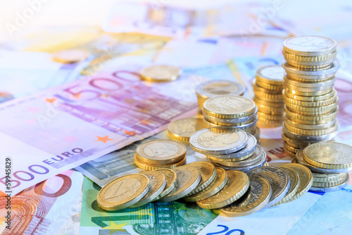 canvas print picture euro currency background