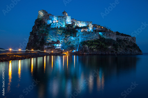 aragonese castle in the night
