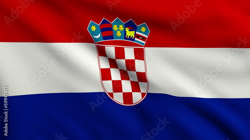 Flag of Croatia looping
