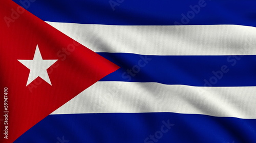 Flag of Cuba looping