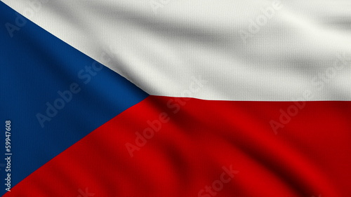 Flag of Czech Republic looping