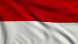 Flag of Indonesia looping